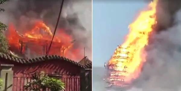 官方通报九龙寺火灾:过火面积800余平方米,无人伤亡