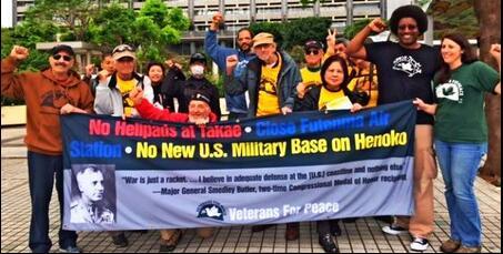 美退役军人集会呼吁停止驻日美军基地迁移建设