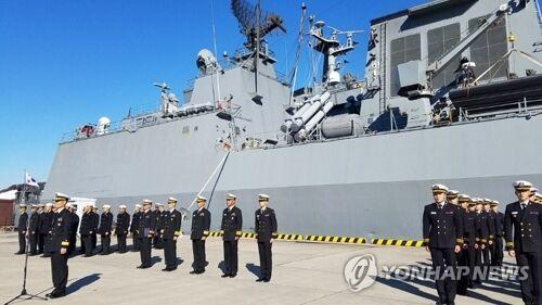 韩国海军巡航训练战团驶入日本港口 进行5天交流