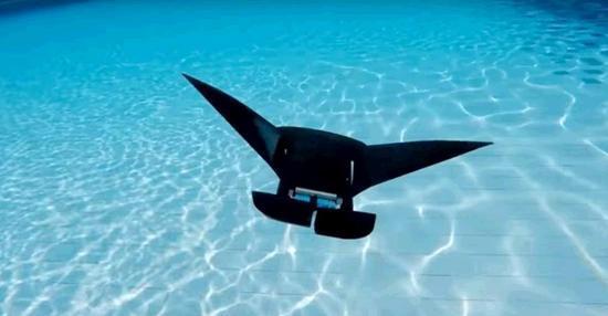 新加坡科学家打造蝠鲼机器人 可水下畅游10小时