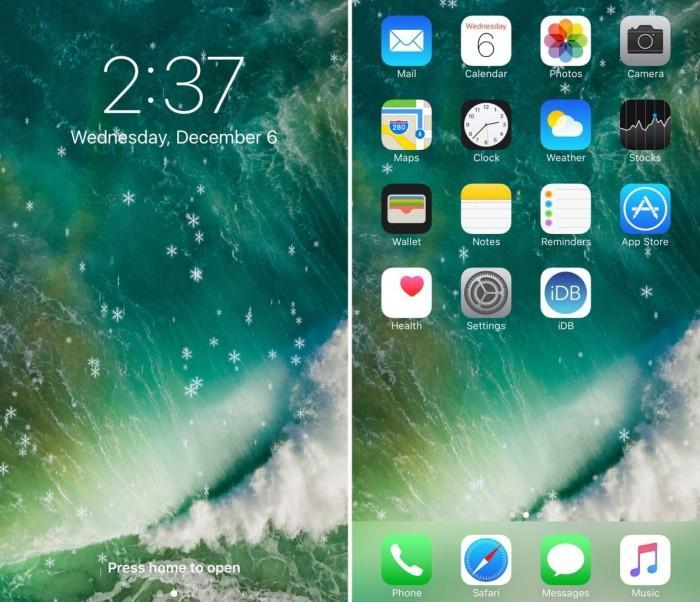 这款插件可以给越狱iPhone添加雪花特效