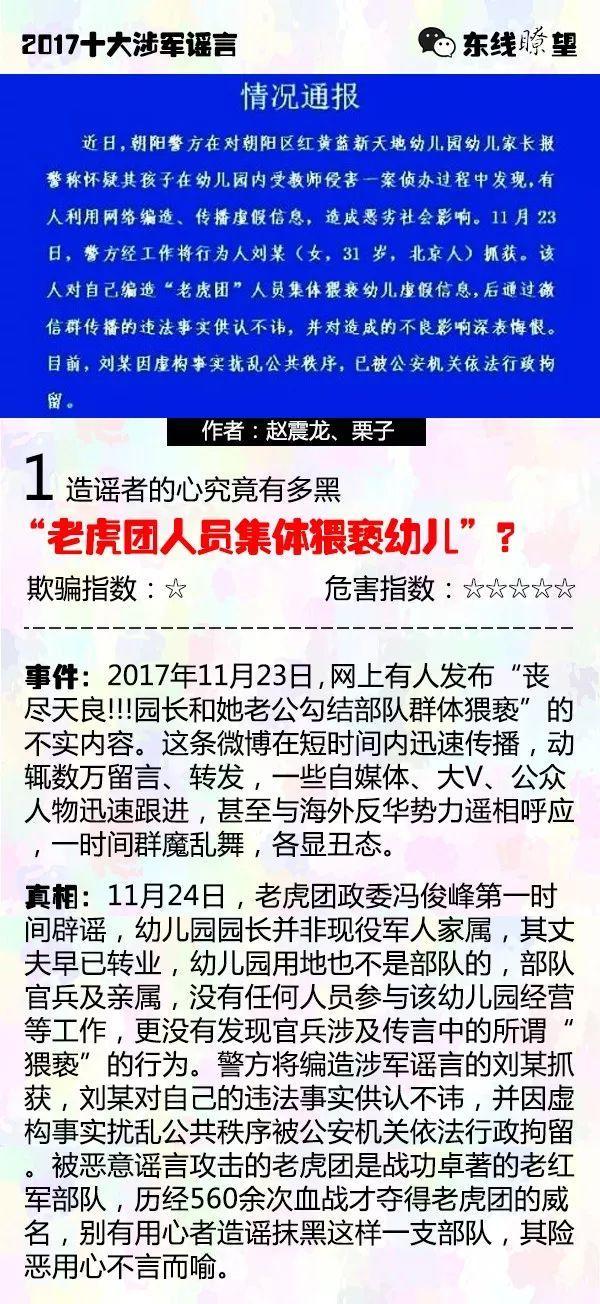 造谣手法全揭秘 军媒盘点2017年十大涉军谣言