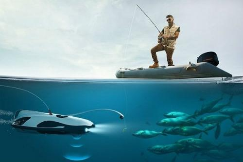 这款水下无人机钓鱼神器 可以随时帮你盯紧钓鱼竿