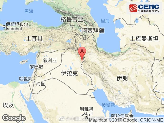 伊朗、伊拉克边境地区附近发生6.0级左右地震