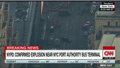 现场人踩人!纽约曼哈顿发生恐袭爆炸 至少1人被捕多人伤(视频)