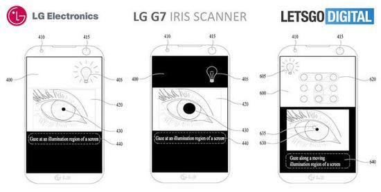 全面屏设计LG G7曝光 前置摄像头兼容虹膜识别