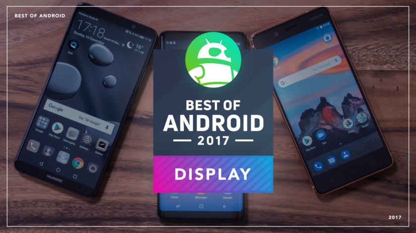 2017年显示效果最好安卓手机 三星Note8夺冠