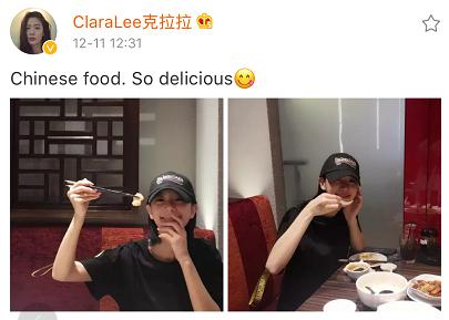 Clara克拉拉现身马来西亚中餐馆 酷爱中国美食