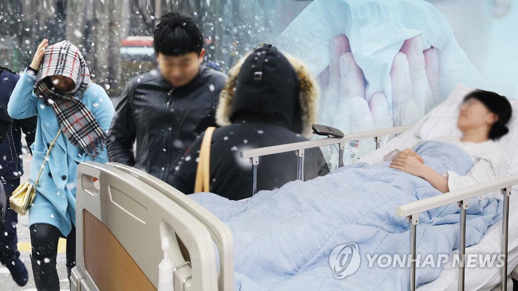韩国迎今冬最强寒流 十天内41人冻伤1人死亡