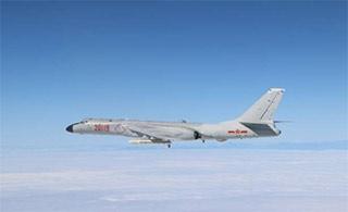 中国空军多款战机绕岛巡航