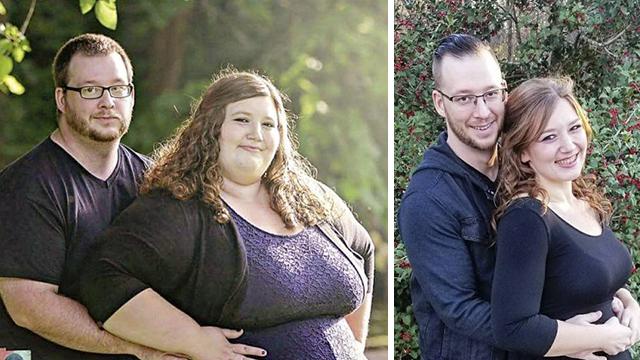 美一夫妻为爱减肥 18个月减掉363斤  前后对比惊人!