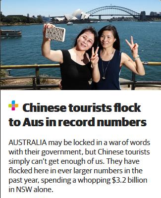 澳媒:中澳政府在打嘴仗,中国人在来我们这儿花钱!