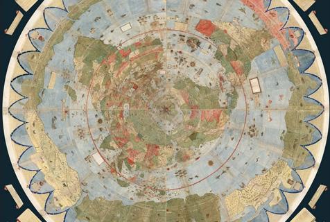 430年前世界地图面世 由60片完整拼接而成