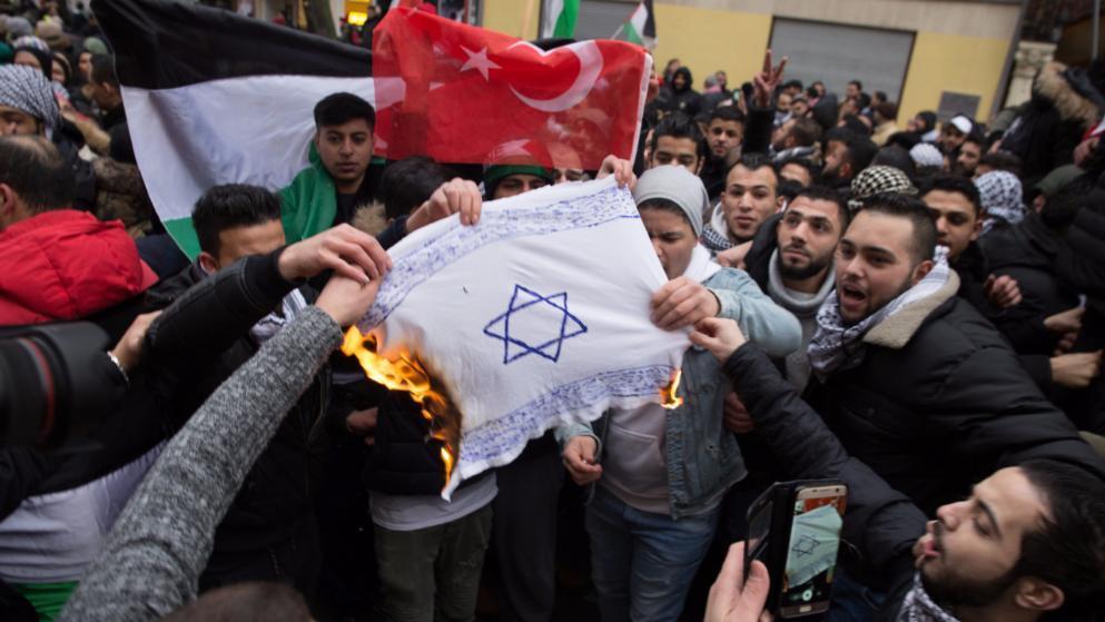 反以示威者焚烧以国旗 德媒:虽必须强烈谴责,但不构成煽动罪