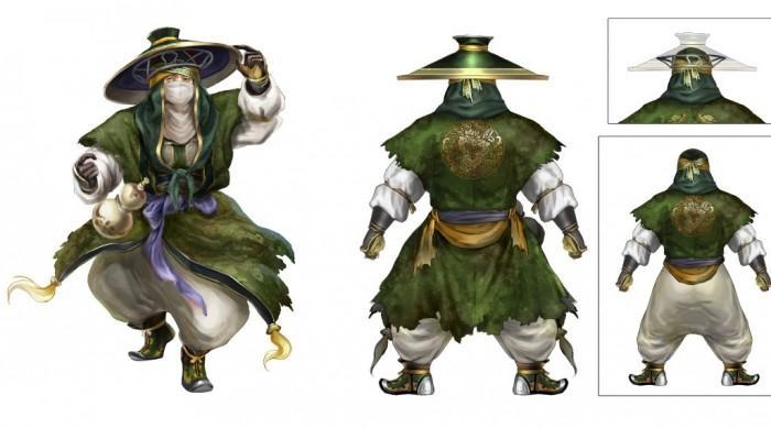 《真三国无双8》庞统人设图 蒙面穿绿杉