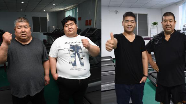 700斤父子历时十个月减肥303斤