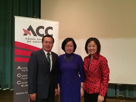 刘红梅副总领事出席亚裔商会2017年年会