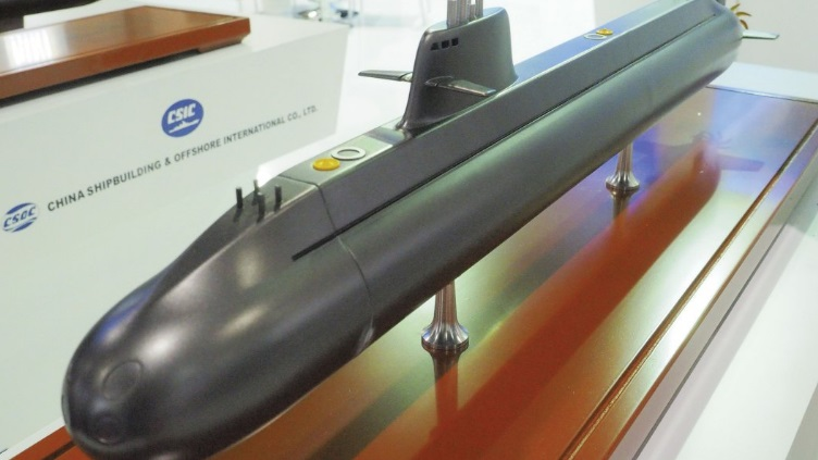 简氏:中国在国际推销最先进潜艇 获得成功