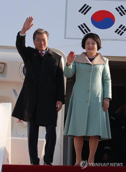 文在寅抵京 开始对中国进行国事访问