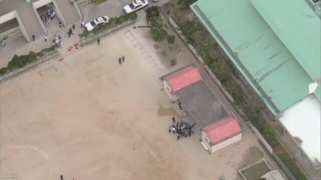 疑似美军CH-53E直升机舱门坠入冲绳一小学操场  一名儿童受伤
