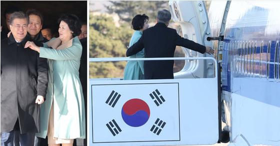 文在寅今起访华 总统夫妇登机前恩爱场面被捕捉
