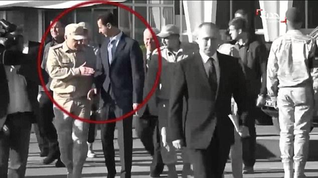小插曲!叙利亚总统欲紧随普京上台被俄士兵拦住