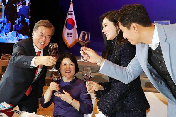 文在寅夫妇访华 在京出席韩国侨民恳谈会