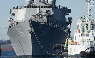 历时2月麦凯恩号终于抵达横须贺