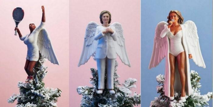 想要独特圣诞树装饰品?来看3D打印天使版本希拉里