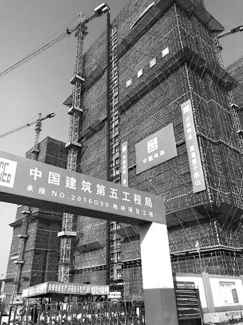 南京一地王项目停工 业内:不是孤例 建议低头降价