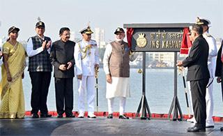 印国产常规潜艇服役惊动莫迪