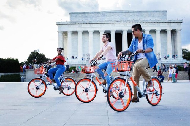 日媒:从中国兴起的共享单车已登陆美国首都华盛顿