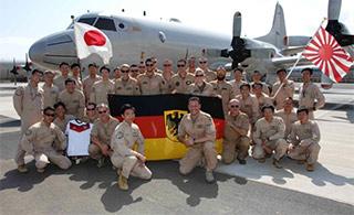 日德军机亚丁湾会师共同巡航