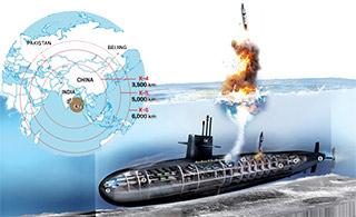 印度潜艇画大饼:导弹射程覆盖北京