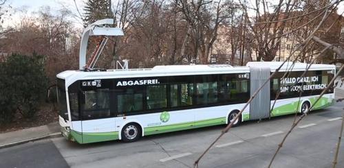 媒体:奥地利公交迎来中国电动大巴 30秒内完成充电