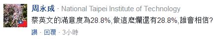 赌博平台最有信誉的:蔡英文执政满意度不到三成_台网友:离倒台不远了