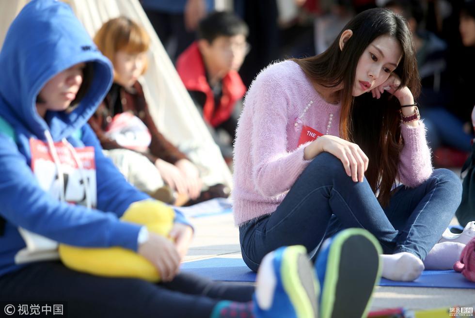 国际发呆比赛在台湾举行 参赛者扎堆放空