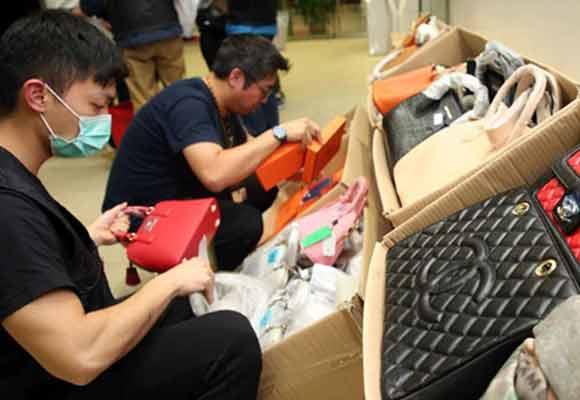 香港海关瓦解怀疑冒牌货集团 检获三千件疑似冒牌物品