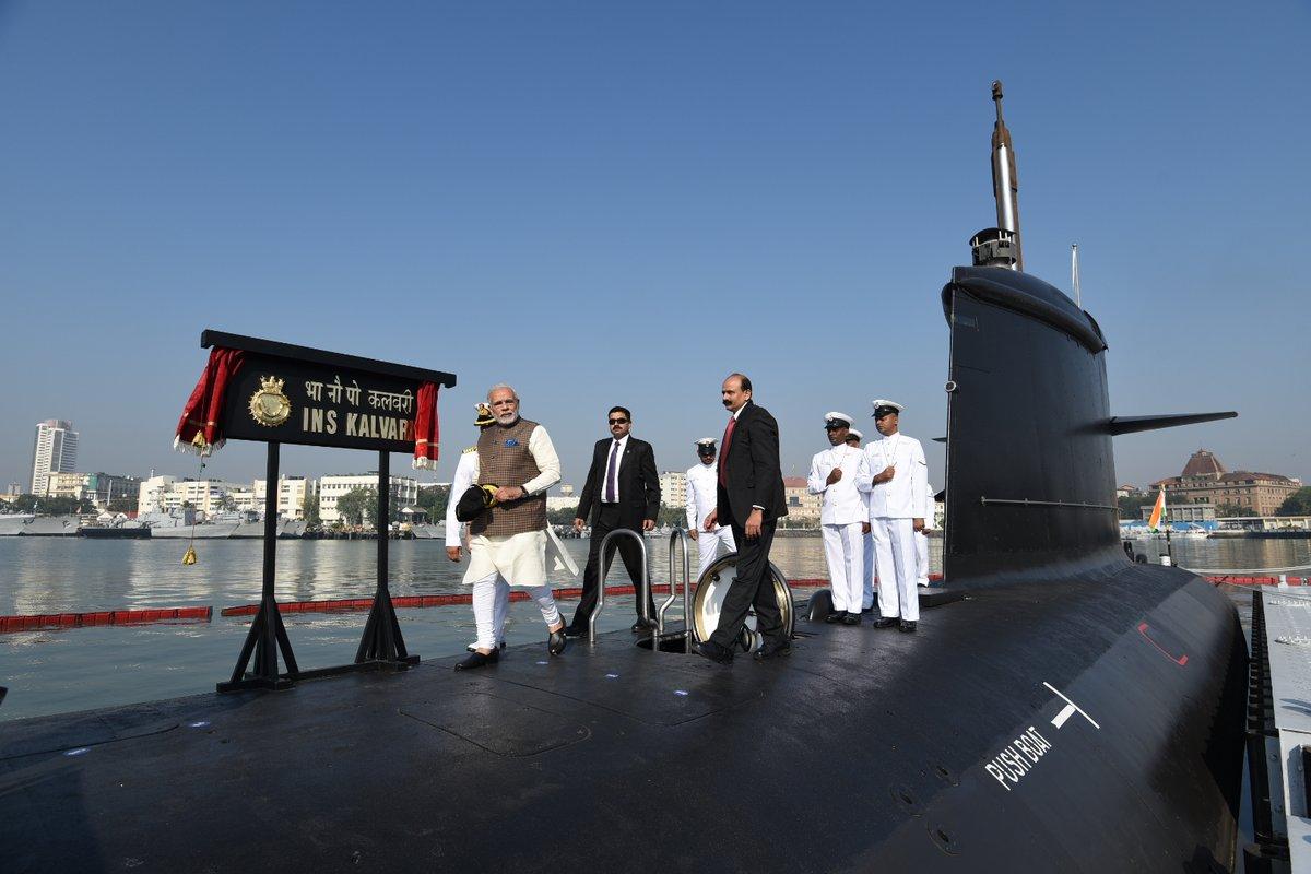 俄媒:印方称将在2021年中前交付6艘新型潜艇