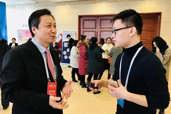 环球网记者现场采访2018环球时报年会嘉宾