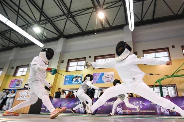湖南首届青少年击剑锦标赛开赛