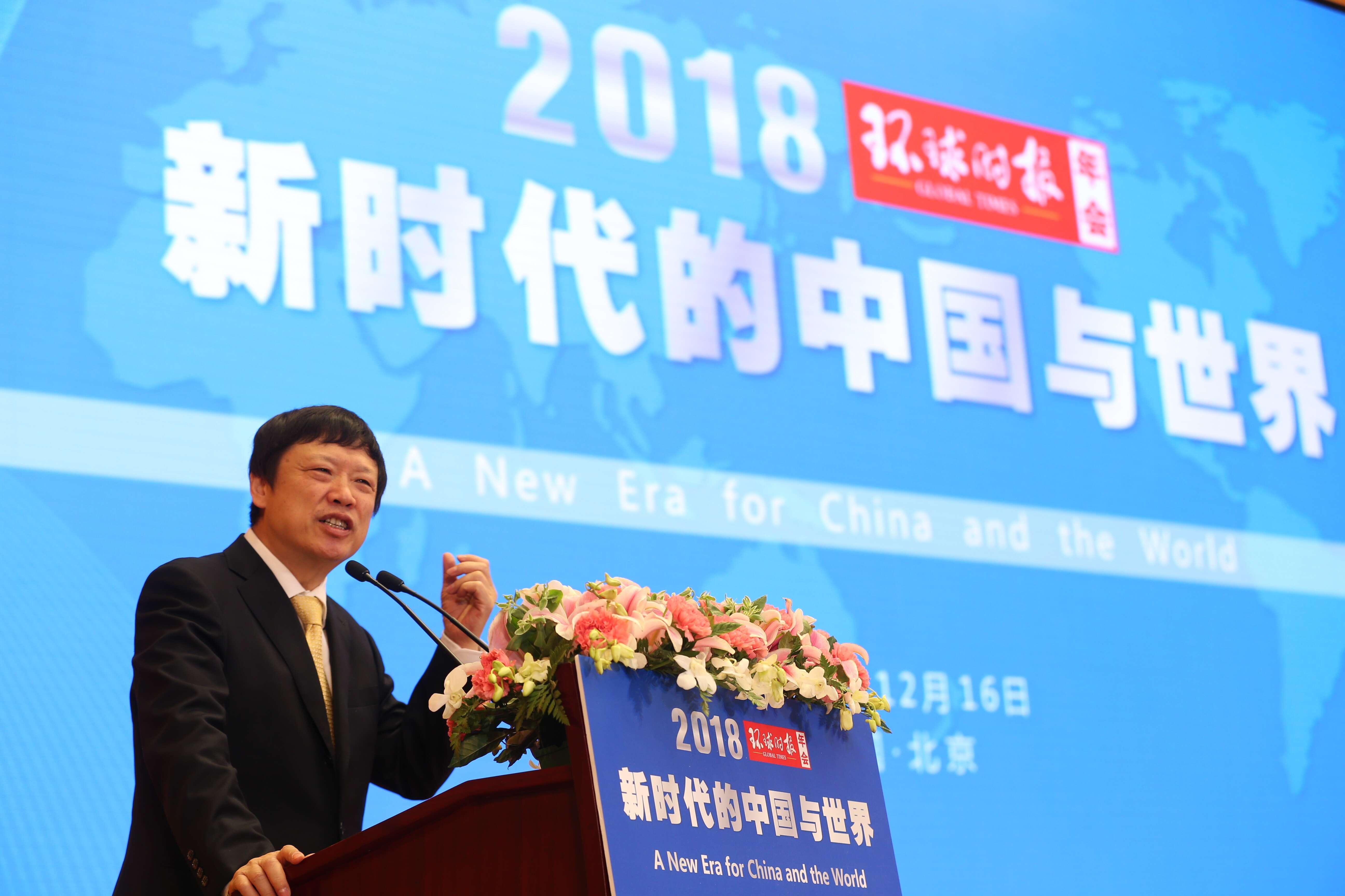 胡锡进寄语鸿运国际娱乐网站十周年