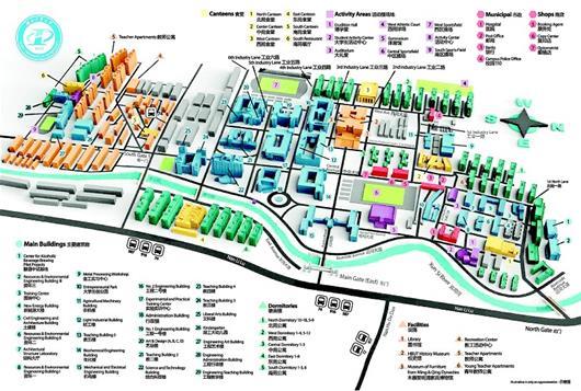 校园实在太大 美籍教授花16个月制成3D地图