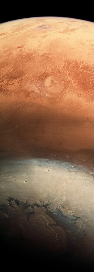 火星快车探测器拍摄红色星球不同寻常的照片