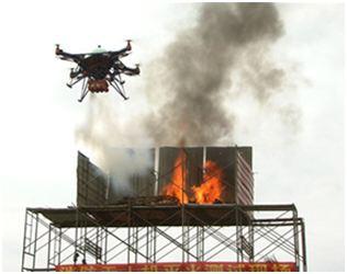 中国航天科工研发无人机灭火系统
