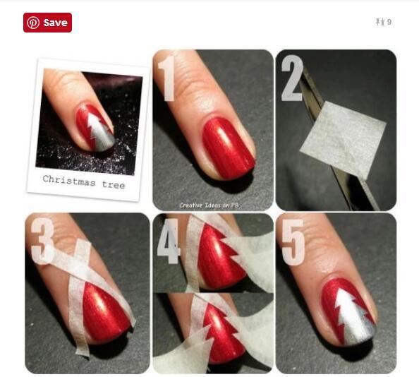 指尖上的圣诞节: 5款新潮圣诞风美甲