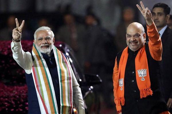 印度执政党在莫迪老家赢得关键选举 支持者庆贺