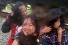 印尼16岁女孩铁轨自拍