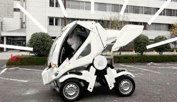 高达之父大河原邦男设计:仿机器人变形电动车