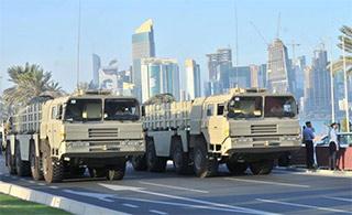 卡塔尔阅兵出现中国产战术导弹